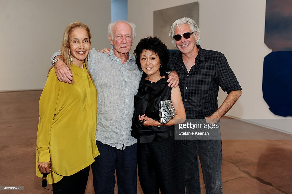 Elizabeth Robinson, Joe Goode, Hiromi Katayama and John Williams attend Joe Goode 'Flat Screen Nature' on July 12, 2014 in Los Angeles, California.