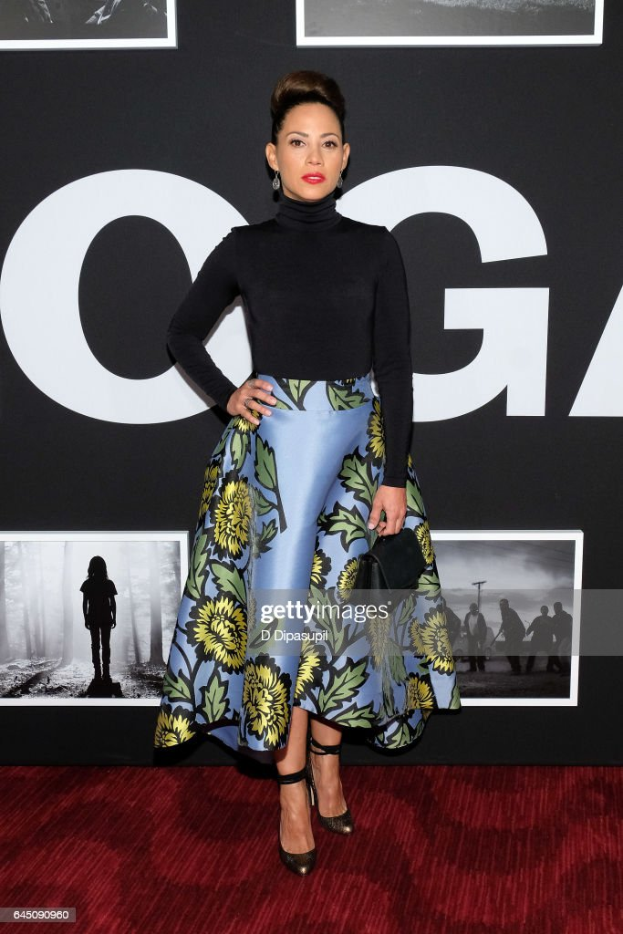 Elizabeth Rodriguez attends the 'Logan' New York screening at Rose Theater, Jazz at Lincoln Center on February 24, 2017 in New York City.