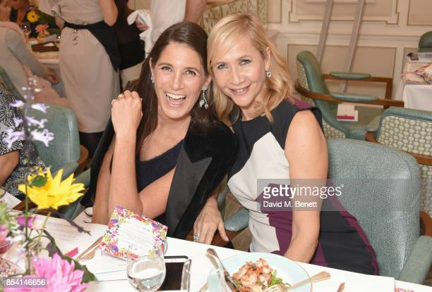 Elizabeth Saltzman and Tania Bryer attend the 4th annual Ladies' Lunch in support of the Silent No More Gynaecological Cancer Fund at Fortnum Mason...