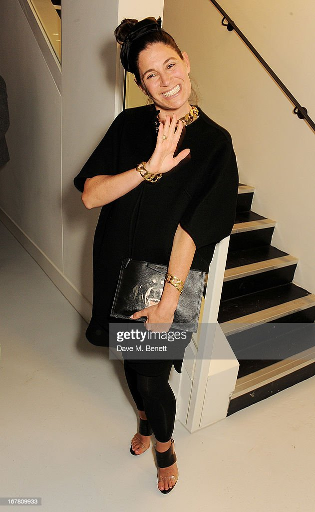 Elizabeth Saltzman attends the Conde Nast College of Fashion & Design opening party at 16/17 Greek Street on April 30, 2013 in London, England.