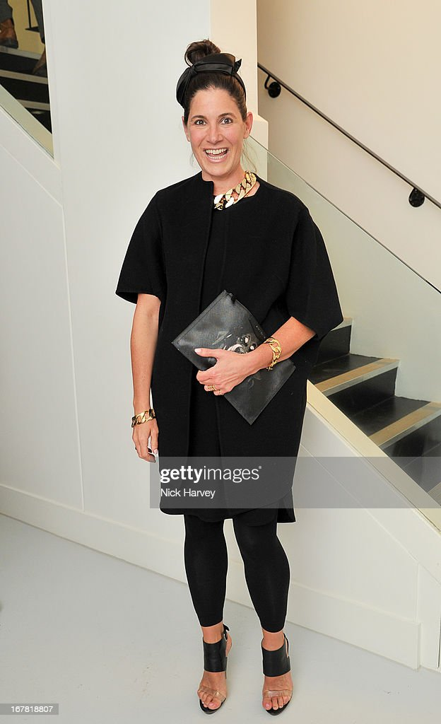 Elizabeth Saltzman attends the opening of the Conde Nast College of Fashion and Design on April 30, 2013 in London, England.