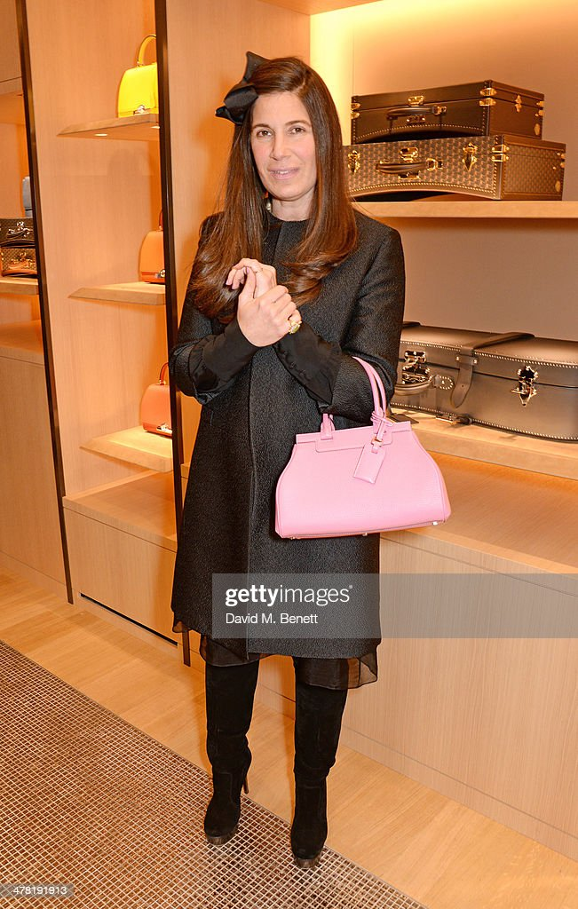 Elizabeth Saltzman Walker attends the Moynat London boutique opening on March 12, 2014 in London, England.