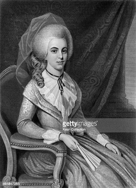 Elizabeth Schuyler Hamilton the wife of US Founding Father Alexander Hamilton 1781 From an original painted in 1781 by R Earl