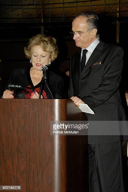 Elizabeth Scott and Honoree Gianfranco Monacelli attend SOANE FOUNDATION Goes Thoroughly Modern at Rainbow Room on April 23 2008 in New York City