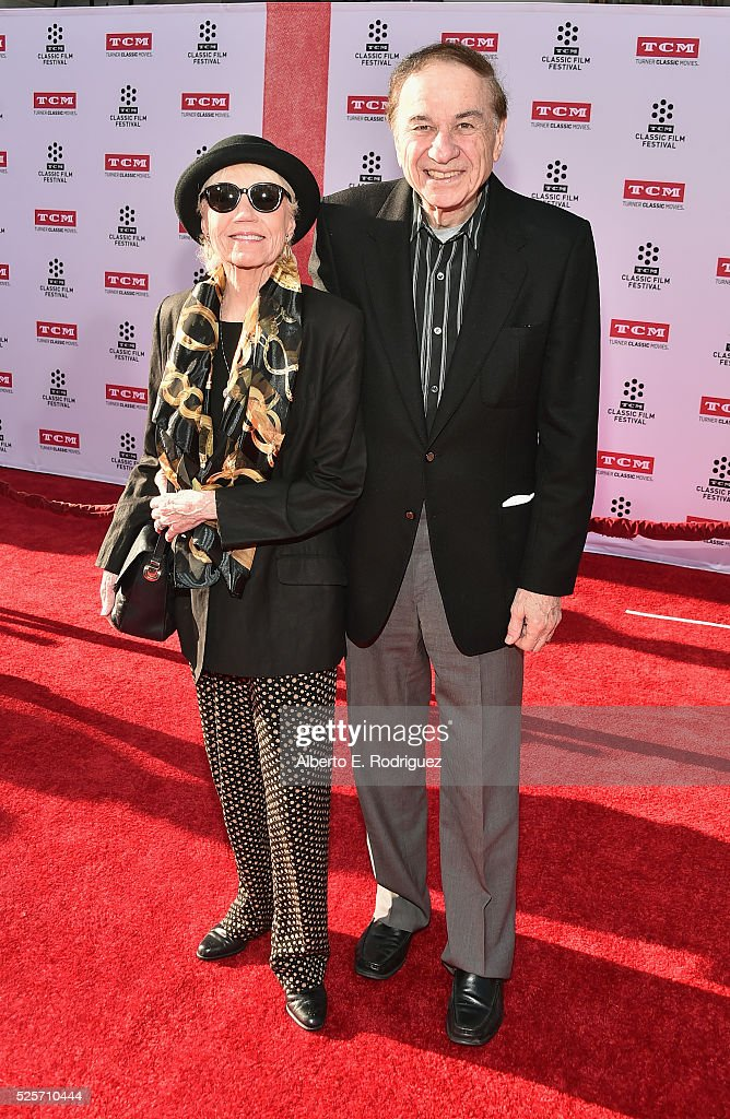 Elizabeth Sherman and composer Richard Sherman attend 'All The President's Premiere' during the TCM Classic Film Festival 2016 Opening Night on April...