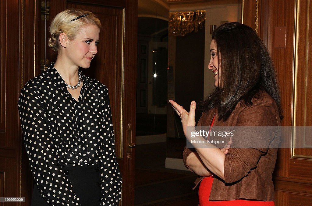Elizabeth Smart and Elizabeth Mayhew attend The New York Society For The Prevention Of Cruelty To Children's 2013 Spring Luncheon at The Pierre Hotel on April 18, 2013 in New York City.