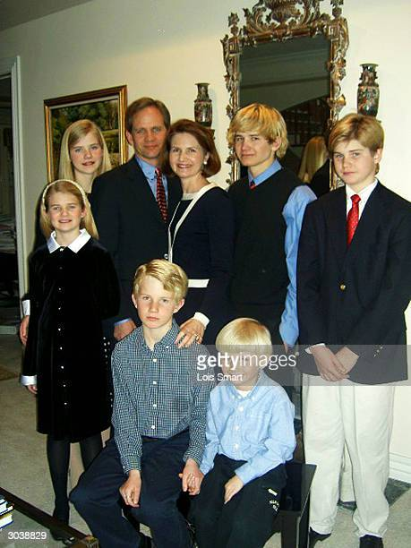 Elizabeth Smart poses for a portrait with her family at their home February 22 2004 in Salt Lake City UT