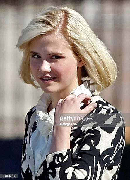 Elizabeth Smart walks after she testified for the first time in a competency hearing for her kidnapper Brian David Mitchell on October 1 2009 in Salt...