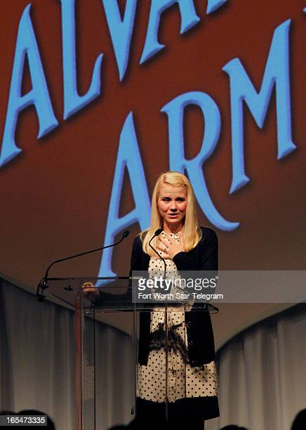 Elizabeth Smart who as a fourteenyearold was kidnapped in 2002 and held for nine months spoke about 'Overcoming Extreme Adversity' at the Salvation...