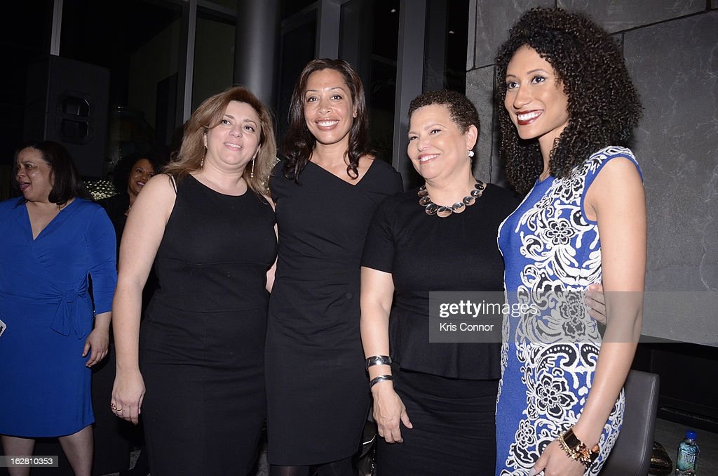 Elizabeth St. John, Keija Minor, Debra Lee and Elaine Welteroth pose for a photo during the Leading Women Defined: First Ladies Reception on February 27, 2013 in Washington, DC.