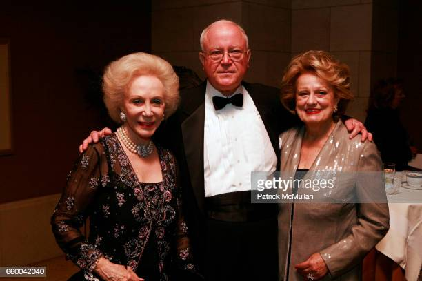 Elizabeth Stafford Joseph Baillio and Elizabeth Scott attend American Friends of The Louvre Honor IM PEI And The 20th Anniversary of The Pyramid at...
