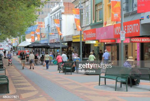 Elizabeth Street Hobart City : Stock Photo