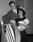 Elizabeth Taylor and her husband Conrad Hilton Jr on ship