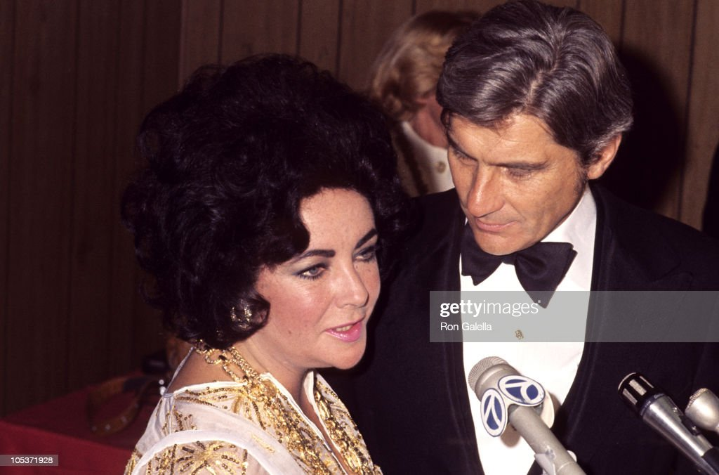 Elizabeth Taylor and John Warner during Salute to Elizabeth Taylor and Jack Warner by Jewish National Fund Banquet at Beverly Hilton Hotel in Beverly Hills, California, United States.