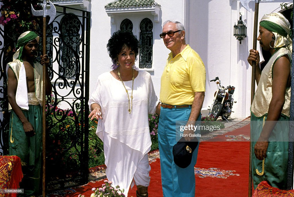 <a gi-track='captionPersonalityLinkClicked' href=/galleries/search?phrase=Elizabeth+Taylor&family=editorial&specificpeople=69995 ng-click='$event.stopPropagation()'>Elizabeth Taylor</a> and <a gi-track='captionPersonalityLinkClicked' href=/galleries/search?phrase=Malcolm+Forbes&family=editorial&specificpeople=218186 ng-click='$event.stopPropagation()'>Malcolm Forbes</a> during <a gi-track='captionPersonalityLinkClicked' href=/galleries/search?phrase=Malcolm+Forbes&family=editorial&specificpeople=218186 ng-click='$event.stopPropagation()'>Malcolm Forbes</a>' 70th Birthday Party, 1989 at Tangier Country Club in Tangier, Morocco.