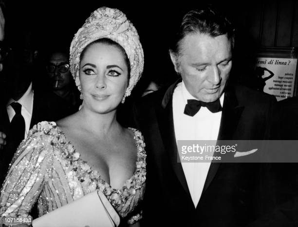 Elizabeth Taylor and Richard Burton received the Golden Mask the annual prize given by the Rome Newsmen Association as the best non Italian film...