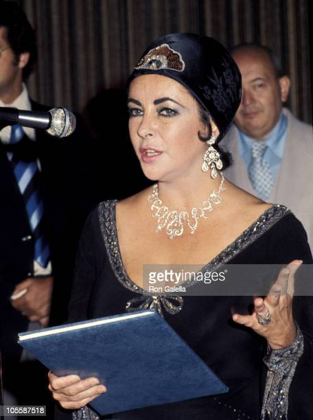 Elizabeth Taylor during Elizabeth Taylor Receives An Award After A Performance of 'Giselle' at New York State Theater in New York City New York...