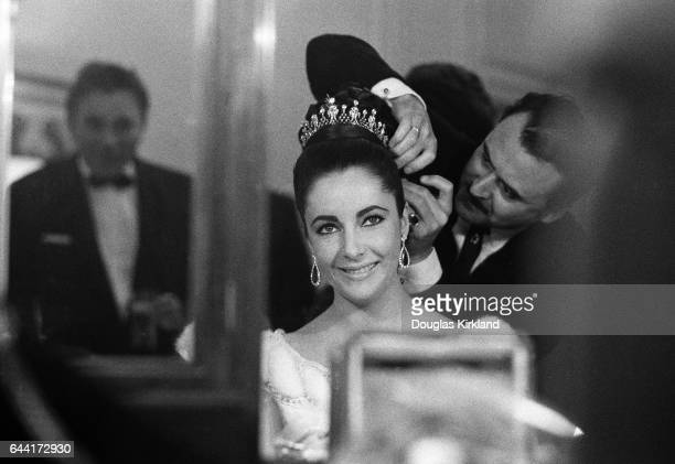 Elizabeth Taylor gets ready for the Opera with hair stylist Alexandre