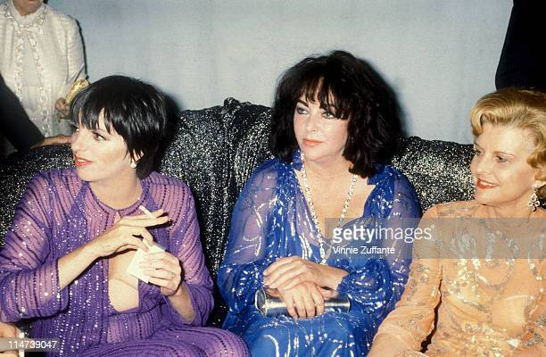 Elizabeth Taylor with Liza Minnelli and Betty Ford at Studio 54 in NYC 1977