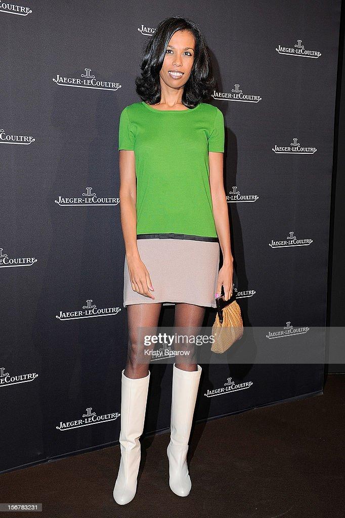 Elizabeth Tchoungi attends the Jaeger-LeCoultre Place Vendome Boutique Opening at Jaeger-LeCoultre Boutique on November 20, 2012 in Paris.