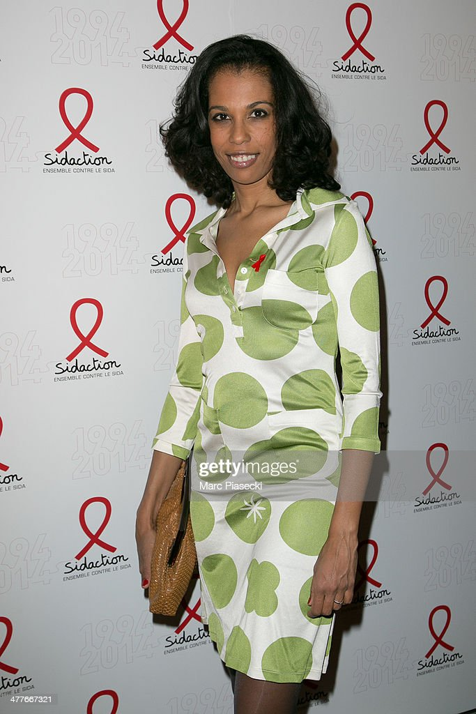 Elizabeth Tchoungui attends the 'Sidaction 20th Anniversary' at Musee du Quai Branly on March 10, 2014 in Paris, France.