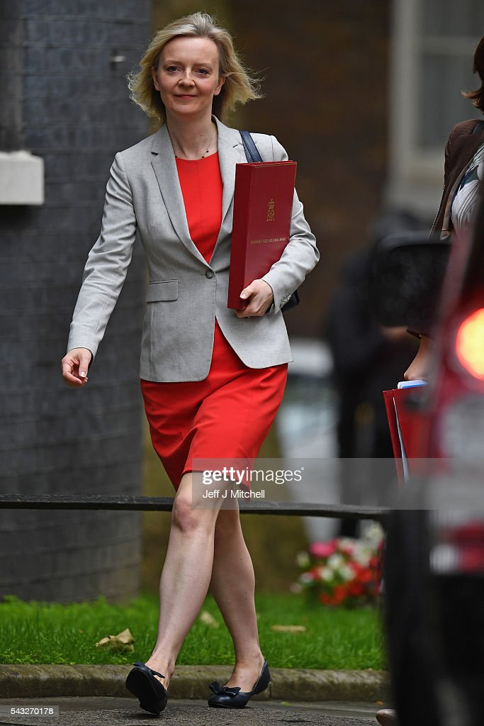 <a gi-track='captionPersonalityLinkClicked' href=/galleries/search?phrase=Elizabeth+Truss&family=editorial&specificpeople=10173095 ng-click='$event.stopPropagation()'>Elizabeth Truss</a>, Secretary of State for Environment, Food and Rural Affairs arrives for a cabinet meeting at Downing Street on June 27, 2016 in London, England. British Prime Minister David Cameron is due to chair an emergency Cabinet meeting this morning, after Britain voted to leave the European Union. Chancellor George Osborne spoke at a press conference ahead of the start of financial trading and outlining how the Government will 'protect the national interest' after the UK voted to leave the EU.
