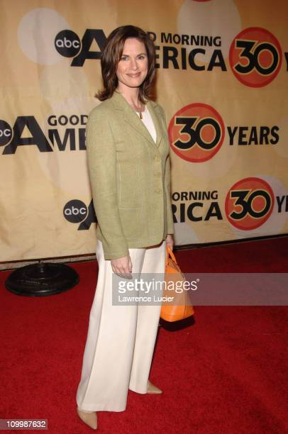 Elizabeth Vargas during Good Morning America Celebrates Its 30th Anniversary at Avery Fisher Hall in New York City New York United States