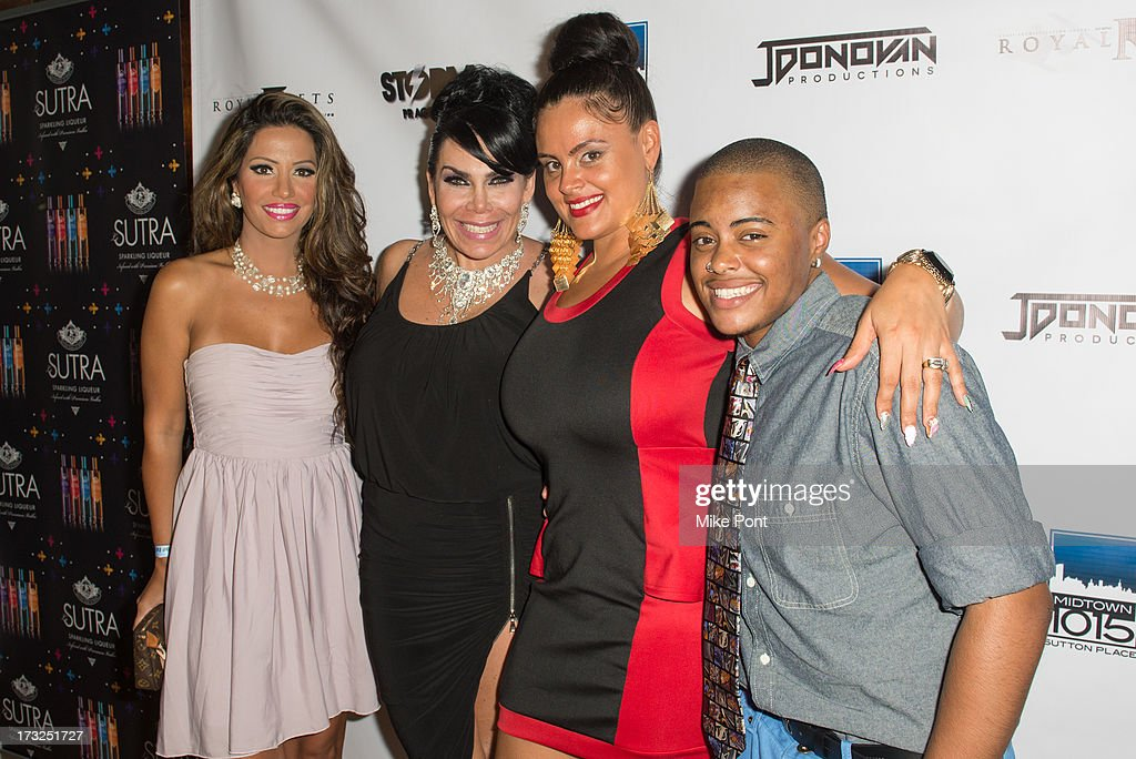Elizabeth Vashisht, Renee Graziano, Vivian Billings and Kayden Billings attend Renee Graziano's Celebrity Dinner Party at Midtown 1015 on July 10, 2013 in New York City.