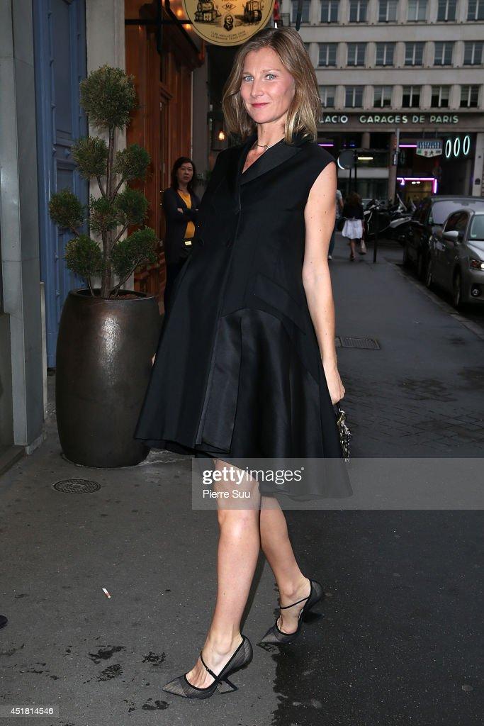 Elizabeth Von Guttman arrives at a 'Dior' dinner on July 7, 2014 in Paris, France.