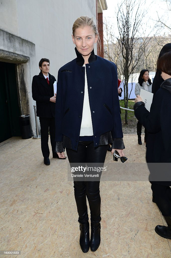 Elizabeth von Guttman arrives to attend the Celine Fall/Winter 2013 Ready-to-Wear show as part of Paris Fashion Week on March 3, 2013 in Paris, France.