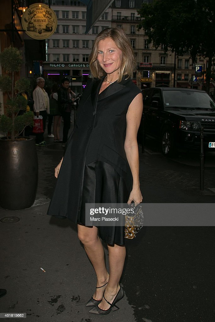 Elizabeth Von Guttman arrives to attend the Dior Private Dinner as part of Paris Fashion Week - Haute Couture Fall/Winter 2014-2015 at on July 7, 2014 in Paris, France.