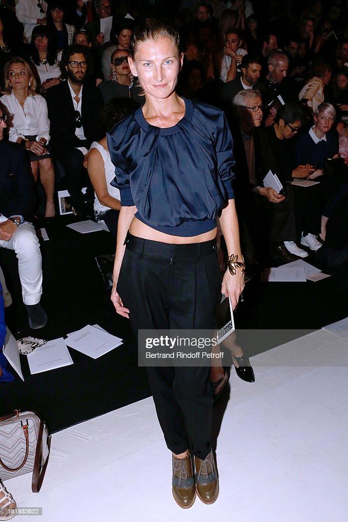 Elizabeth Von Guttman attends Nina Ricci show as part of the Paris Fashion Week Womenswear Spring/Summer 2014, held at Garden of Tuilleries on September 26, 2013 in Paris, France.