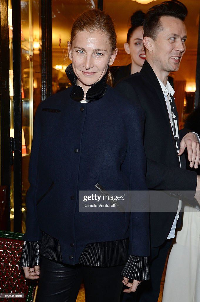 Elizabeth von Guttman attends the Bulgari And Purple Magazine Party at Cafe de Flore on March 3, 2013 in Paris, France.