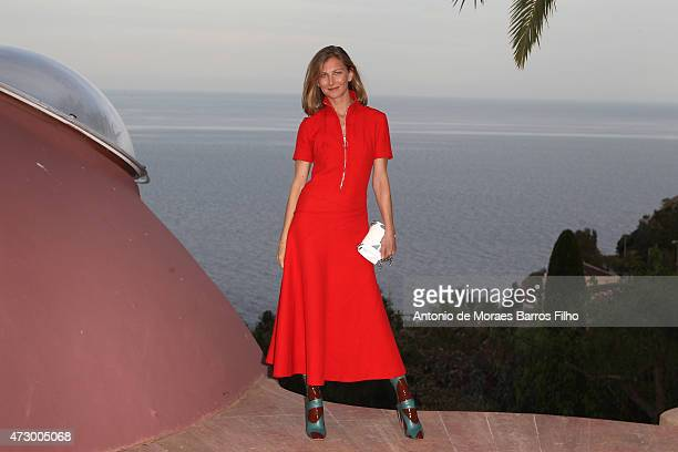 Elizabeth Von Guttman attends the Dior Croisiere 2016 show at 'Palais Bulle Bubble Palace' on May 11 2015 in French Riviera France