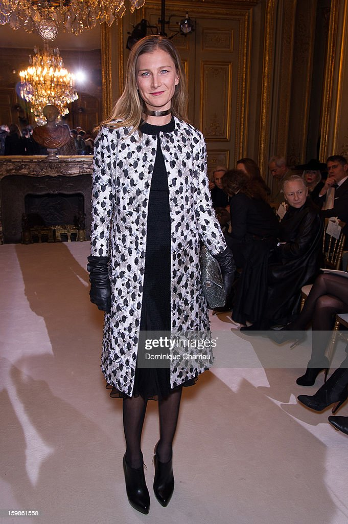 Elizabeth von Guttman attends the Giambattista Valli Spring/Summer 2013 Haute-Couture show as part of Paris Fashion Week at on January 21, 2013 in Paris, France.
