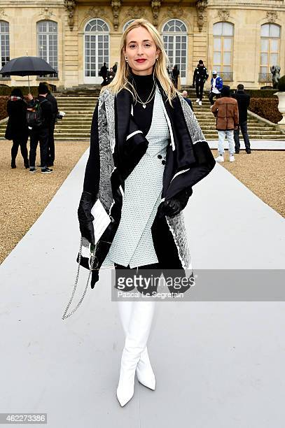 Elizabeth von Thurn und Taxis attends the Christian Dior show as part of Paris Fashion Week Haute Couture Spring/Summer 2015 on January 26 2015 in...