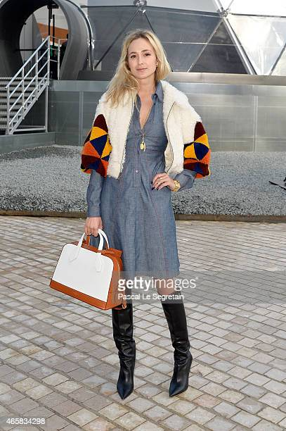 Elizabeth von Thurn und Taxis attends the Louis Vuitton show as part of the Paris Fashion Week Womenswear Fall/Winter 2015/2016 on March 11 2015 in...