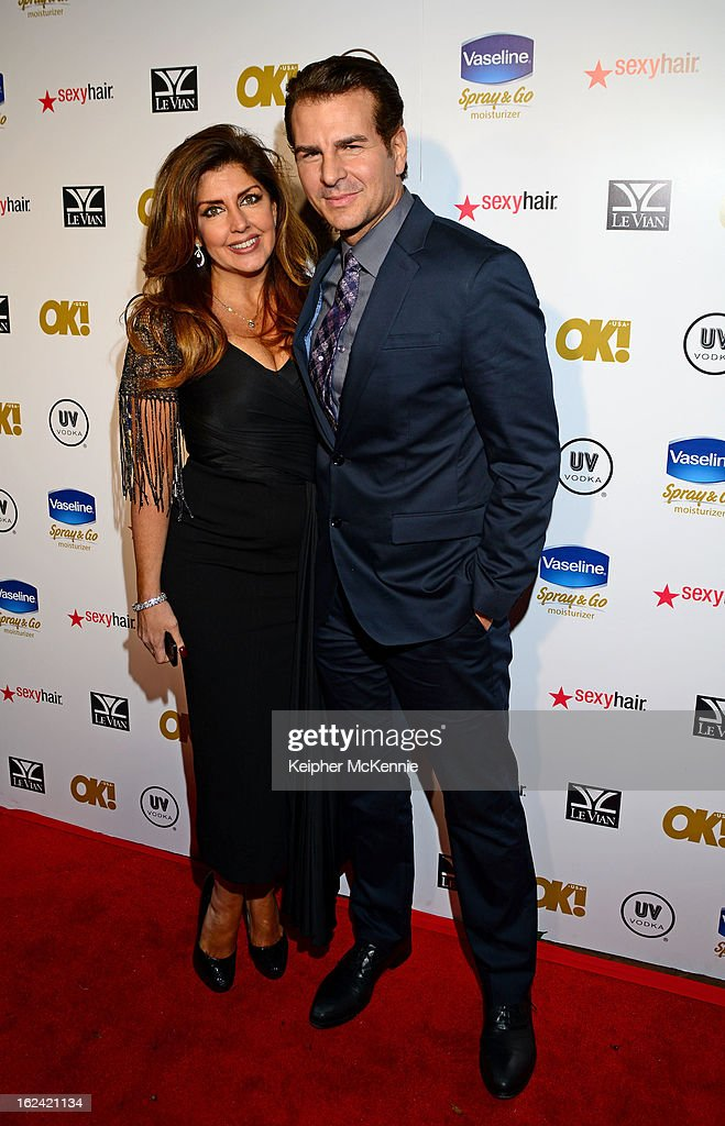 Elizabeth Webster and Vincent DePaul step on the red carpet at OK! Magazine Pre-Oscar Party at The Emerson Theatre on February 22, 2013 in Hollywood, California.