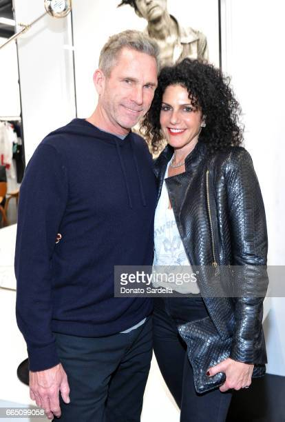 Elizabeth Weinstock and guest attend DIOR SS17 Collection Launch at Maxfield on April 5 2017 in Los Angeles California