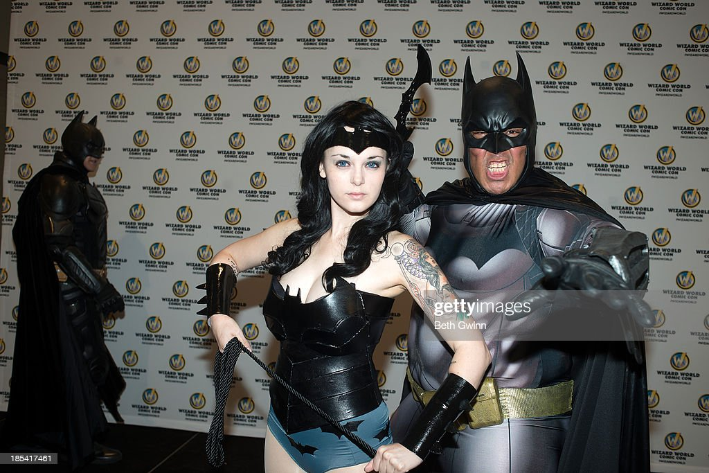 Elizabeth Wither and Eric Moran as Bat Girl and Bat Man attends Nashville Comic Con 2013 at Music City Center on October 19, 2013 in Nashville, Tennessee.