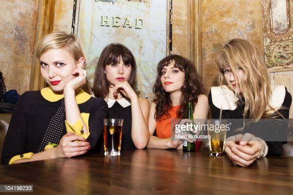 Elizabeth 'Z' Berg Annie Monroe Laena Geronimo and TennesseeThomas of The Like pose for portraits at The Old Queen's Head on September 16 2010 in...