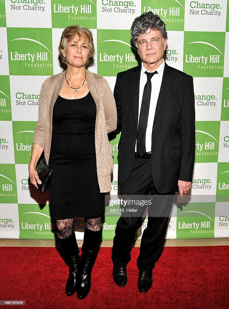Elizabeth Zallian and writer Steven Zallian attend the Liberty Hill's Upton Sinclair Awards dinner at The Beverly Hilton Hotel on April 22, 2014 in Beverly Hills, California.