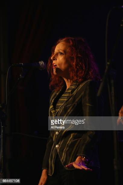 Elizabeth Ziff of the group Betty perform at the 17th Annual Downtown Seder at City Winery on April 3 2017 in New York City