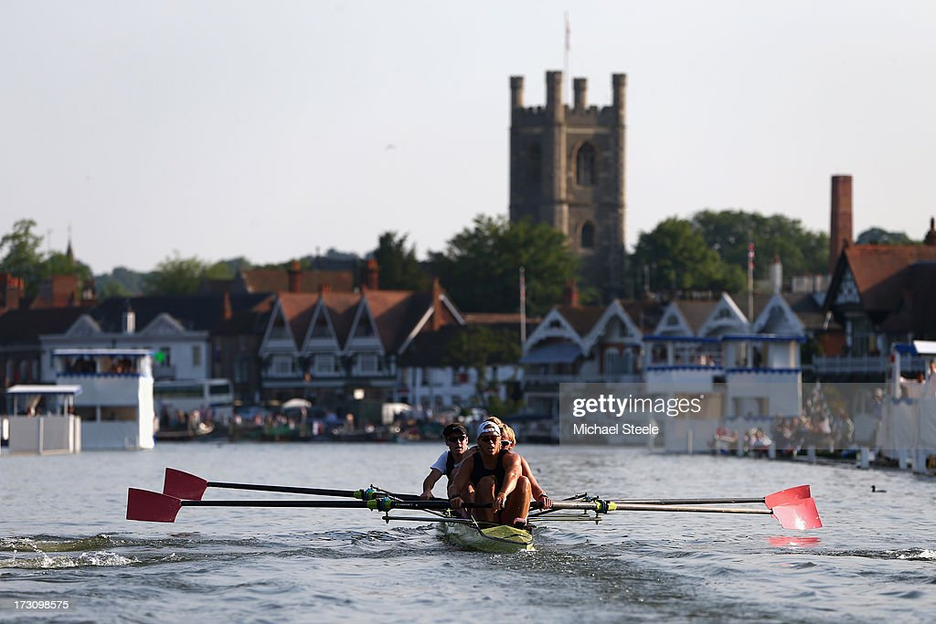 Elizabethan Boat Club competes in the Wyfold Challenge Cup race during day four of the Henley Royal regatta on July 6 2013 in HenleyonThames England