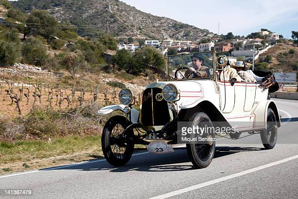Elizalde car from 1918 competes in the 54th Rally BarcelonaSitges on March 11 2012 in Sitges Spain