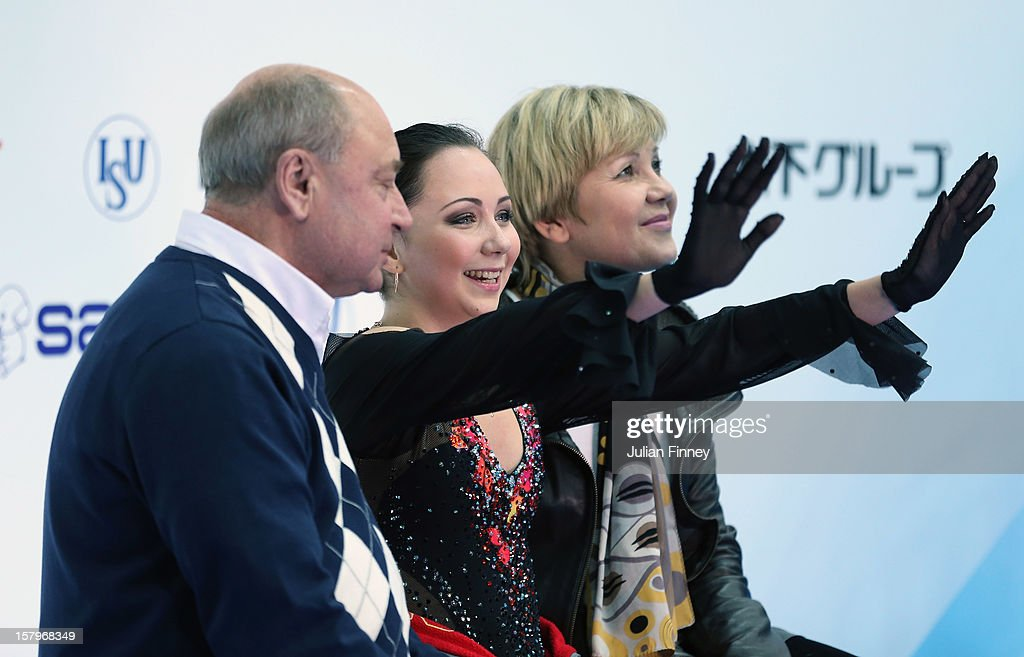Elizaveta Tuktamysheva of Russia after her performance in the Ladies Free Skating during the Grand Prix of Figure Skating Final 2012 at the Iceberg Skating Palace on December 8, 2012 in Sochi, Russia.