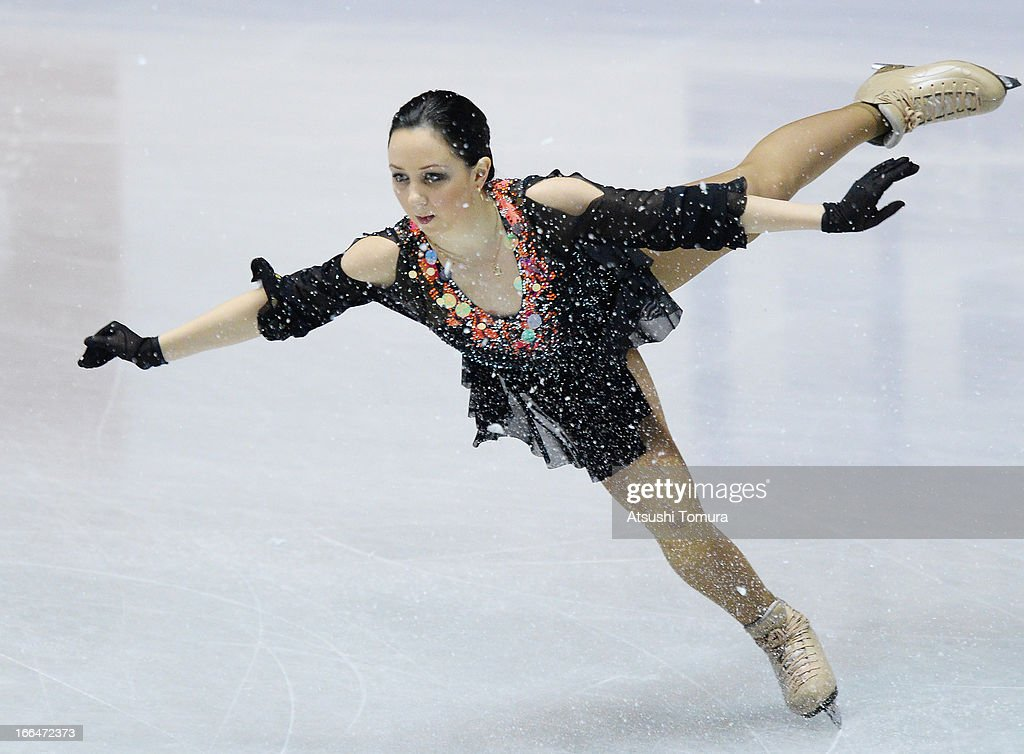 Elizaveta Tuktamysheva of Russia compete in the ladies's free skating during day three of the ISU World Team Trophy at Yoyogi National Gymnasium on April 13, 2013 in Tokyo, Japan.