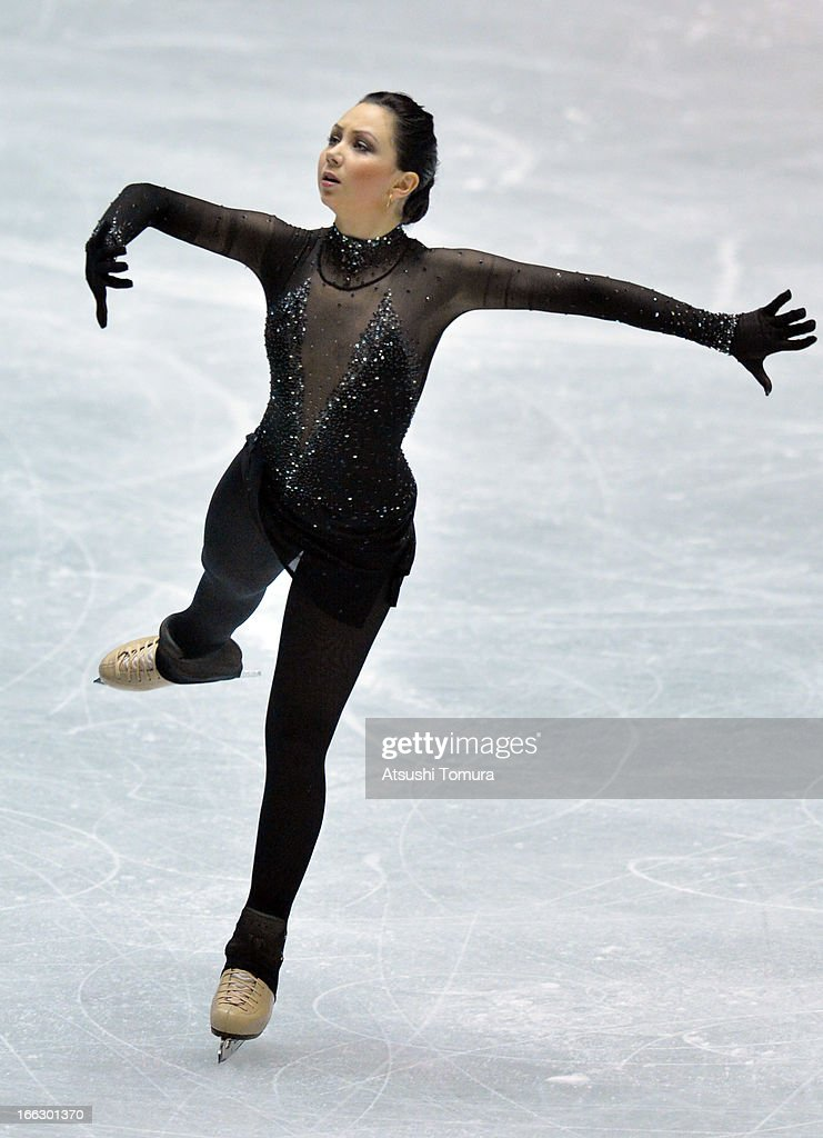 Elizaveta Tuktamysheva of Russia competes in the ladies's short program during day one of the ISU World Team Trophy at Yoyogi National Gymnasium on April 11, 2013 in Tokyo, Japan.