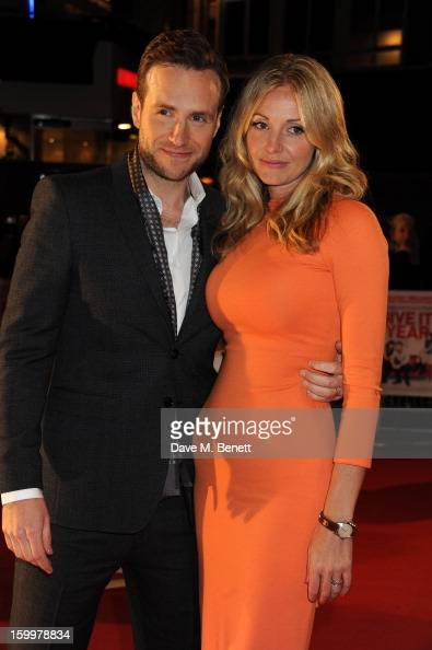 Elize Du Toit and Rafe Spall attend the European Premiere of 'I Give It A Year' at Vue West End on January 24 2013 in London England