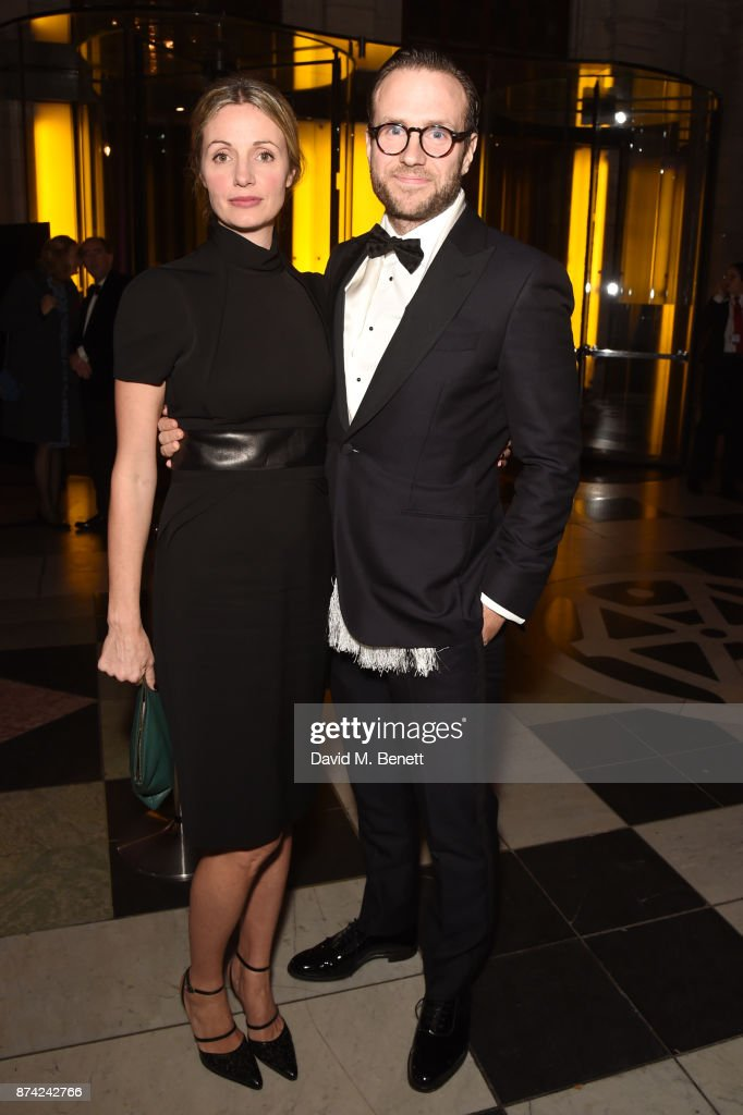 Elize du Toit (L) and Rafe Spall attend The Sugarplum Dinner 2017 in aid of type 1 diabetes charity JDRF at The V&A on November 14, 2017 in London, England.